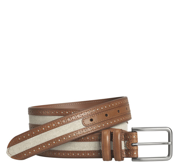 Linen Inlay Belt