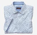 Seersucker Short-Sleeve Turtle Print Shirt