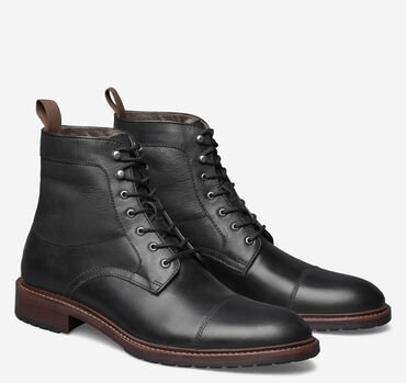 Knox Cap-Toe Shearling Boot