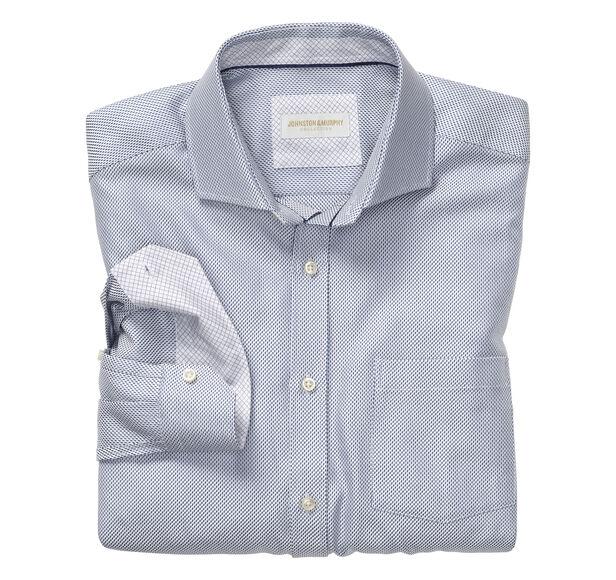 Italian Diagonal Dash Dress Shirt