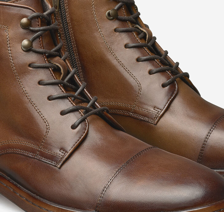 Langley Cap Toe Zip Boot