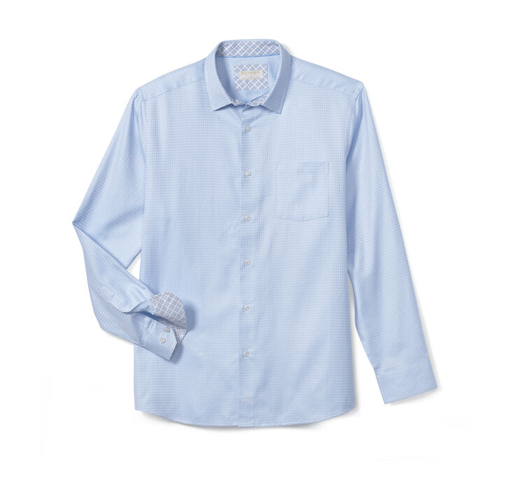 Collection Diagonal Basketweave European Dress Shirt