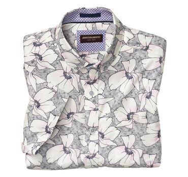 Large Blossom Print Short-Sleeve Shirt