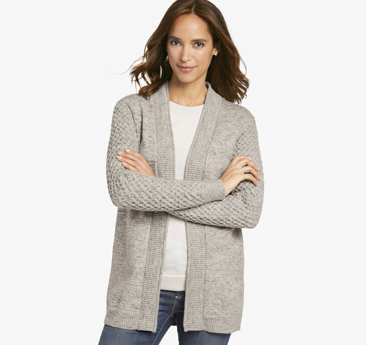 Cable-Sleeve Cardigan