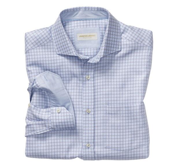 Italian Dotted Windowpane Dress Shirt