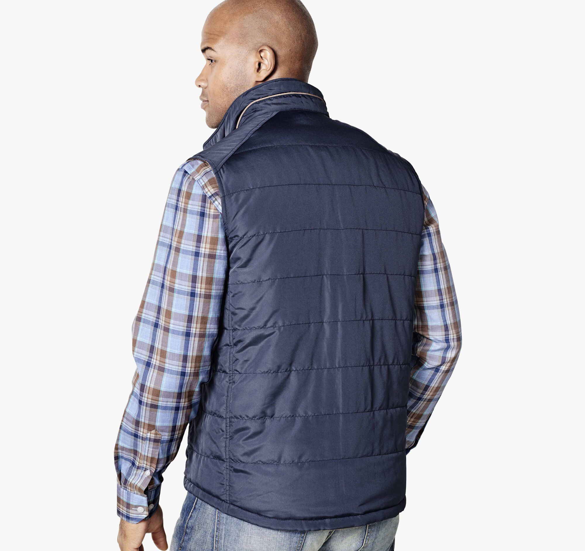 Reversible Quilted Vest Johnston Amp Murphy