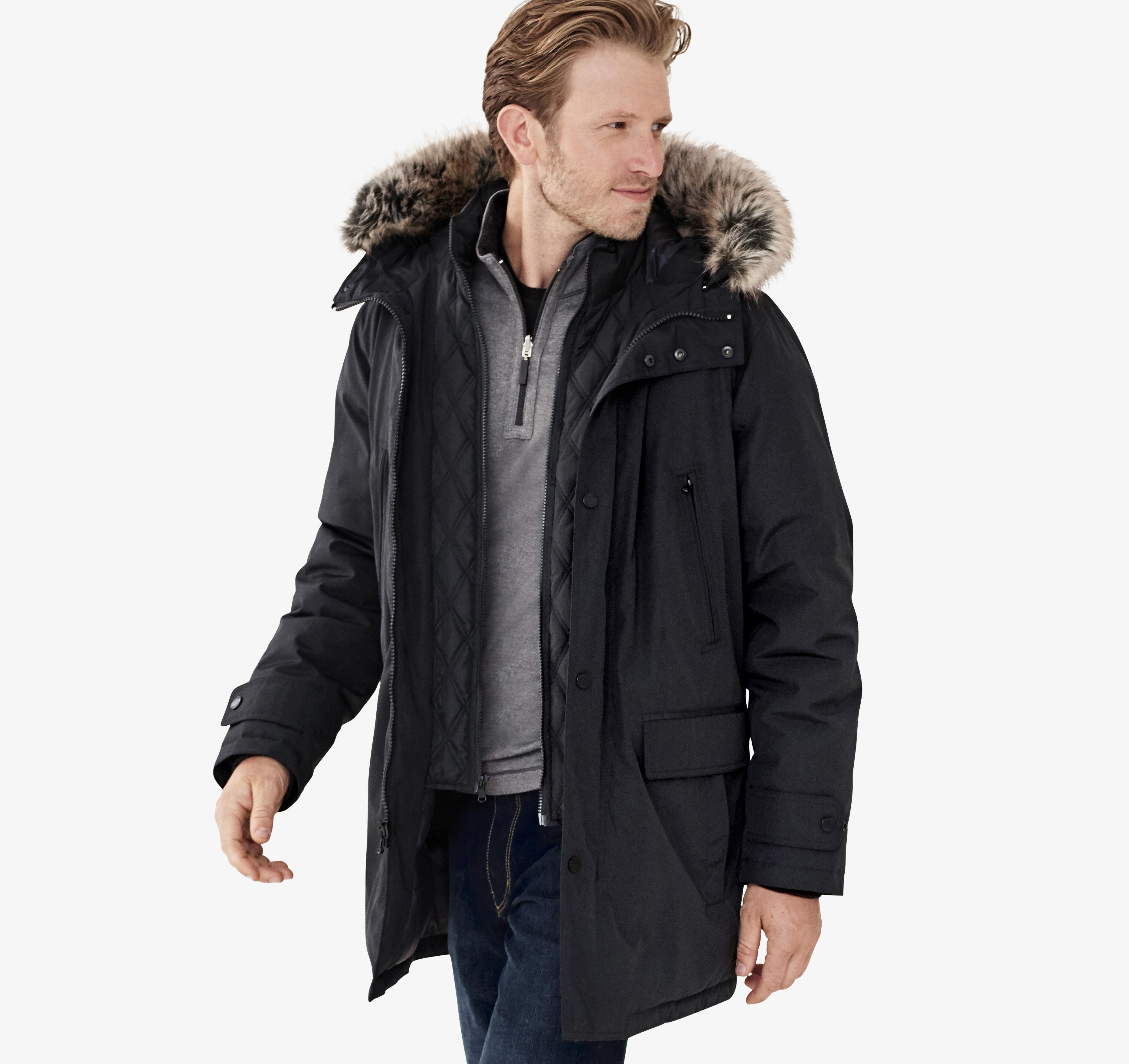 XC4® Faux Fur Trimmed Hooded Parka Johnston & Murphy  Johnston & Murphy