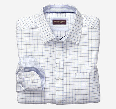 Dotted Windowpane Dress Shirt