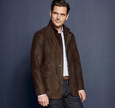 Italian Embossed Leather Jacket