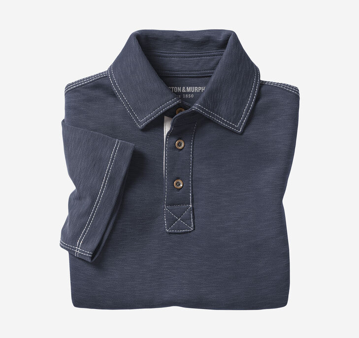 Boys Vintage Slub Polo