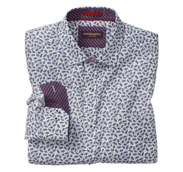 Floating Feather Print Shirt