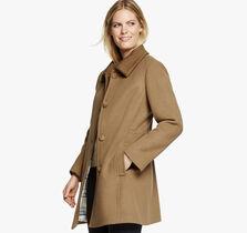 Knit-Collar Coat