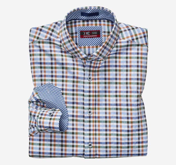 XC4® Multi Gingham Button-Collar Shirt