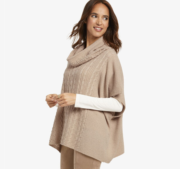 Cable Cowlneck Pullover