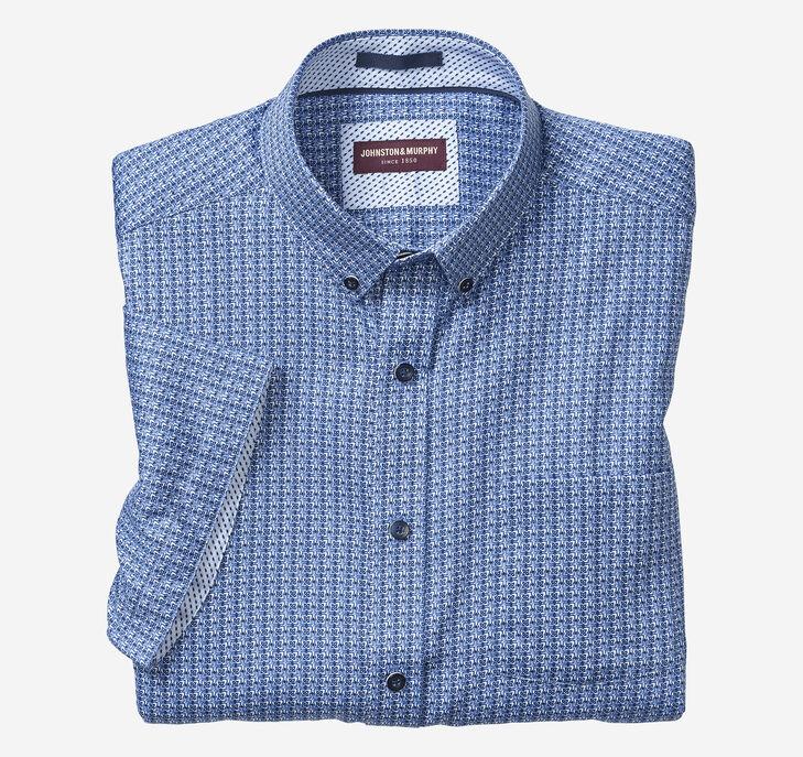 Petal Tile Print Short-Sleeve Shirt