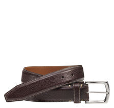 Topstitched Leather Belt
