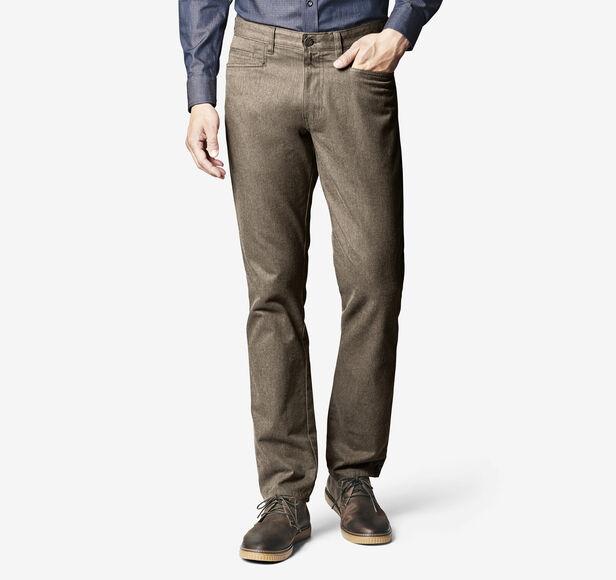 Slim-Fit Brushed Pima Cotton Five-Pocket Pant