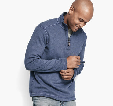 Reversible Solid Quarter-Zip