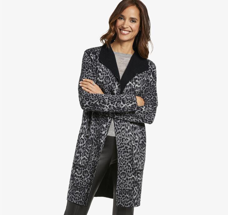 Reversible Leopard Print Cardigan