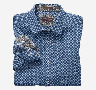 Boxed Dot Print Shirt
