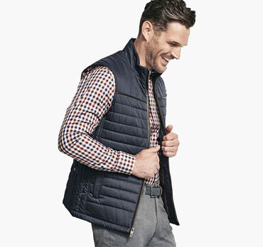 Quilted Twill Vest