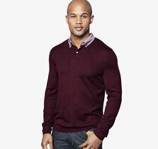 Woven-Collar Sweater