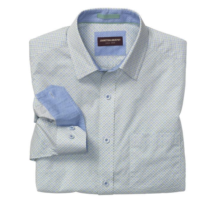 Diamond Flower Print Shirt