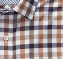 XC4® Large Twill Gingham Point-Collar Shirt
