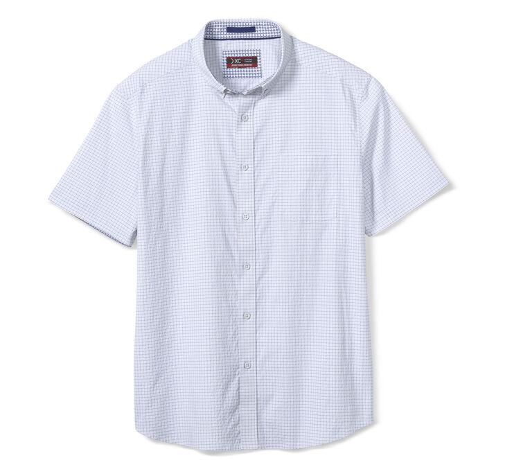 XC4® Windowpane Short-Sleeve Stretch Shirt