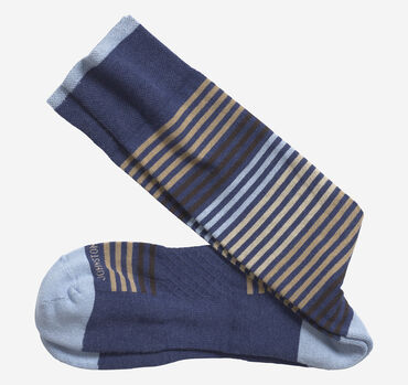 First In Comfort Heather Stripe Socks