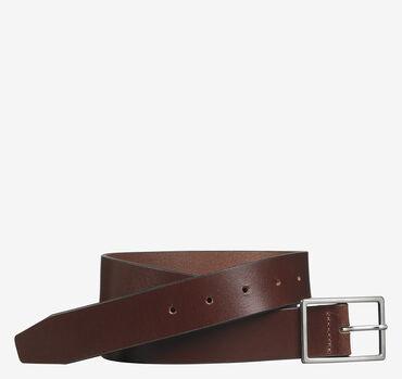 Polished-Nickel Buckle Belt