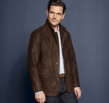 Italian Embossed Leather Jacket