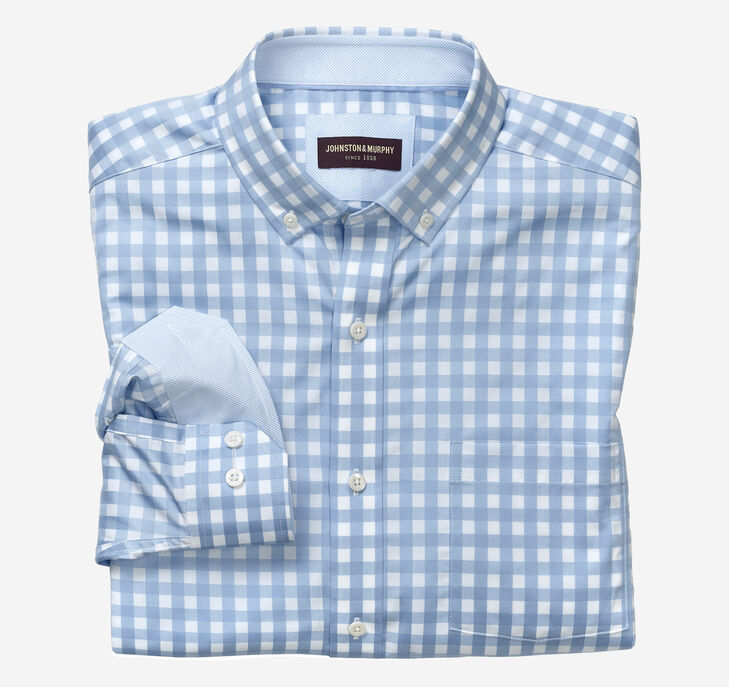 Twill Gingham Patterned Shirt