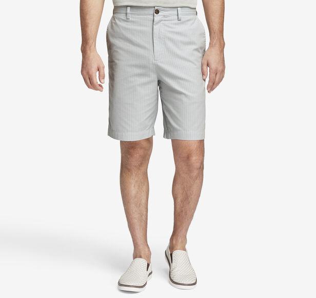 Garment-Washed Mini Check Shorts