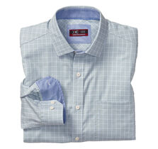 XC4® Angled Neat Windowpane Point-Collar Shirt
