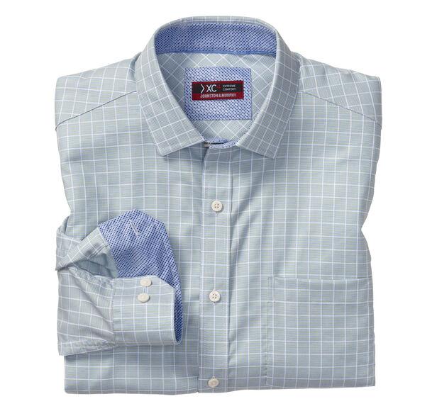XC4® Angled Neat Windowpane Point-Collar Shirt