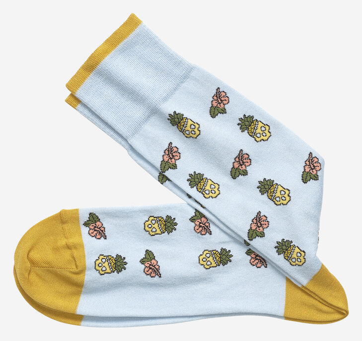 Pineapple Skull Socks