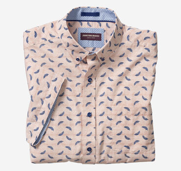 Feather Print Short-Sleeve Shirt