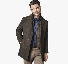 Tweed Wool Car Coat