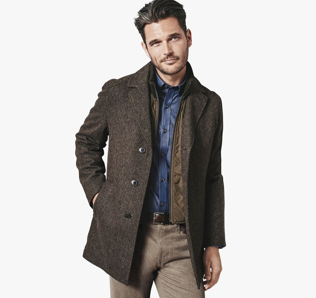 Tweed Wool Car Coat Johnston Amp Murphy