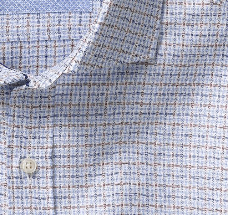 Italian Multi Texture Grid Dress Shirt