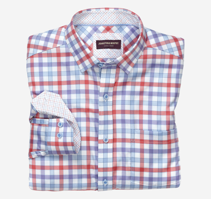 Tri-Tone Gingham Shirt