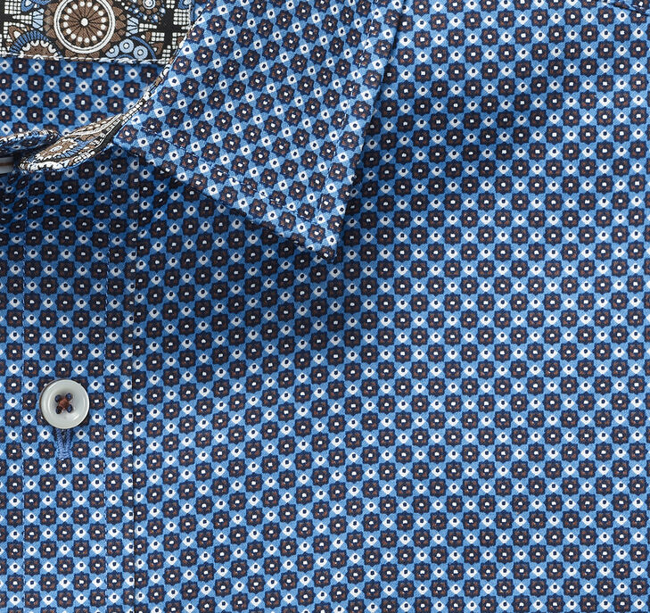 Boxed Dot Print Shirt