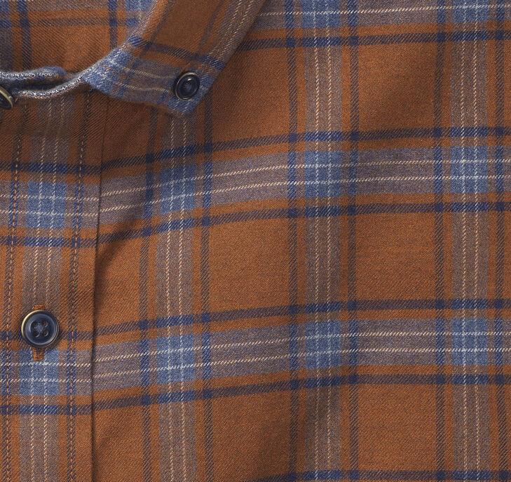 Brushed Heather Large Plaid Shirt