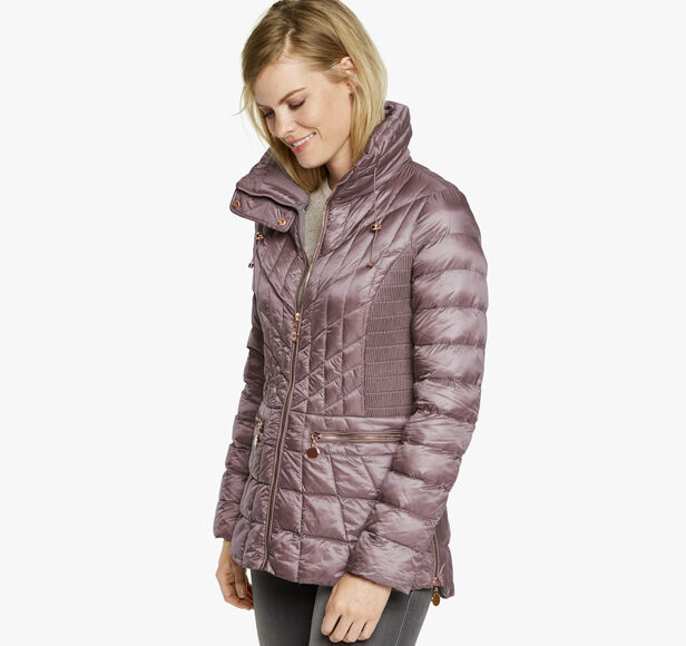 Quilted Metallic Packable Jacket