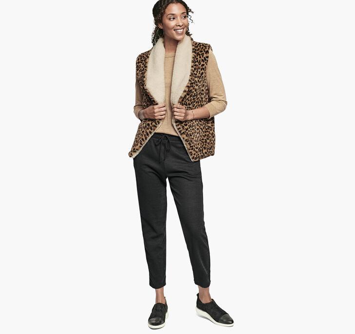 Reversible Animal-Print Faux-Fur/Sherpa Vest