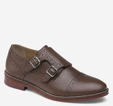 Boys Conard Double-Buckle Monk Strap