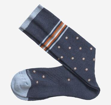 First In Comfort Stripe Dot Socks