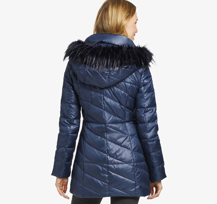 Faux Fur-Trimmed Puffer