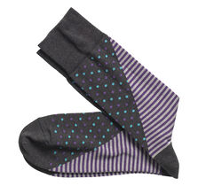 Mixed Stripe/Dot Socks